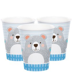 Birthday Bear Cups - 256ml
