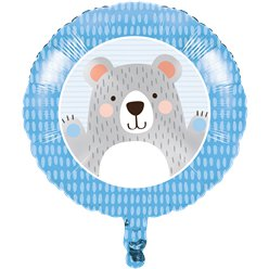 "Birthday Bear Metallic Balloon - 18"" Foil"