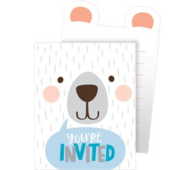 Birthday Bear Pop Up Invitation