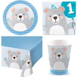 Birthday Bear Party Pack - Value Kit for 8