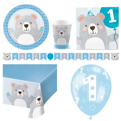 Birthday Bear Party Pack - Deluxe Kit for 8