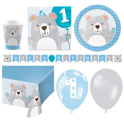 Birthday Bear Party Pack - Deluxe for 16