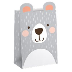 Birthday Bear Paper Treat Bags