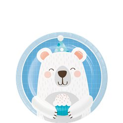Birthday Bear Lunch Plates - 18cm