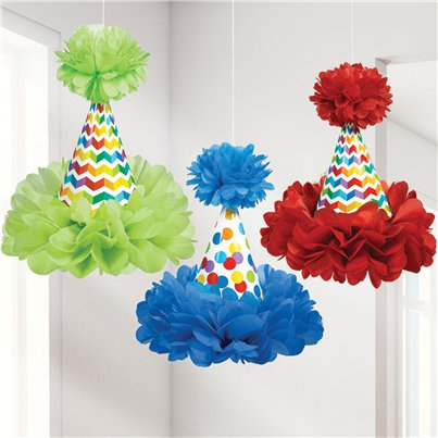 Birthday Bright Cone Hat Decoration