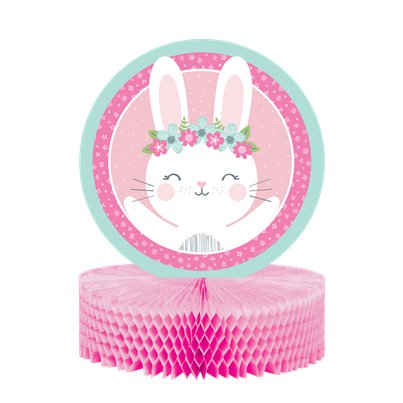 Birthday Bunny Honeycomb Centrepiece