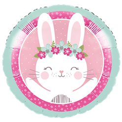 Birthday Bunny Metallic Balloon - 18 Foil