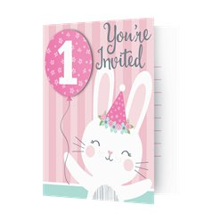 Birthday Bunny Invitations with Attachments