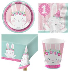 Birthday Bunny Party Pack - Value Kit for 8