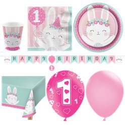 Birthday Bunny Party Pack - Deluxe Kit for 16