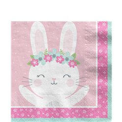 Birthday Bunny Lunch Napkin - 33cm