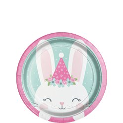 Birthday Bunny Lunch Plate - 18cm