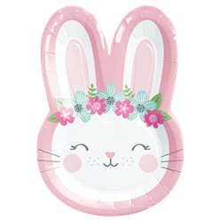 Birthday Bunny Shaped Plate - 23cm