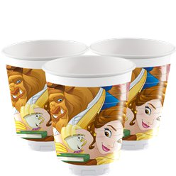 Beauty & the Beast Plastic Party Cups - 200ml