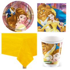 Beauty and the Beast Party Pack - Value Pack For 8