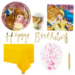 Beauty and the Beast Party Pack - Deluxe Pack for 8
