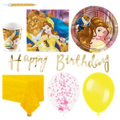 Beauty and the Beast Party Pack - Deluxe Pack for 16