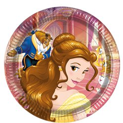 Beauty & The Beast Plates - 23cm Paper Party Plates