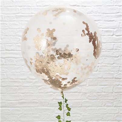 Beautiful Botanics Giant Rose Gold Confetti Balloons - 36