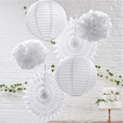 Beautiful Botanics White Mixed Hanging Decorations