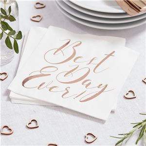 Beautiful Botanics Rose Gold Foiled Napkins