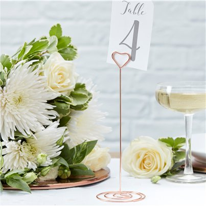 Beautiful Botanics Rose Gold Metal Table Number Holder - 22cm