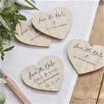 Beautiful Botanics 'Save The Date' Wooden Magnets