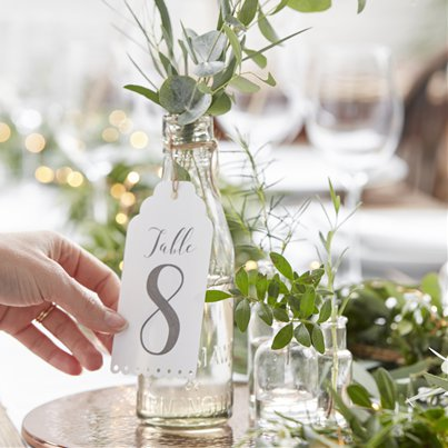 Beautiful Botanics Table Number Tags