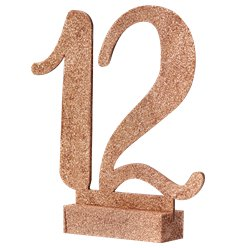Beautiful Botanics Rose Gold Wooden Glitter Table Numbers 1-12 - 15.5cm