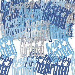Blue Birthday Glitz Confetti - 14g bag