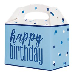 Blue Birthday Glitz Party Box