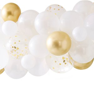 Botanical Hen Party Gold Chrome Balloon Arch