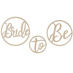 Botanical Hen Party Wooden Bride To Be Hoops - 35cm