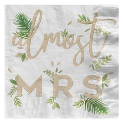 Botanical Hen Party Almost Mrs Paper Napkins - 33cm