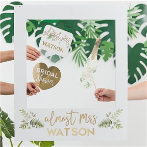 Botanical Hen Party Customisable Giant Polaroid Frame - 72cm