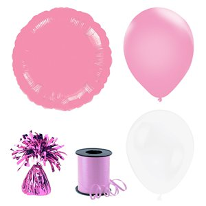 Pink & White Balloon Bouquets - 3 Bunches