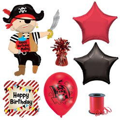 Pirate Balloon Deluxe Balloon Bouquet