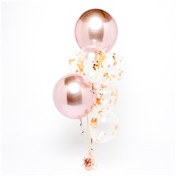 Rose Gold Orbz Balloon Bouquets - 1 Bunch