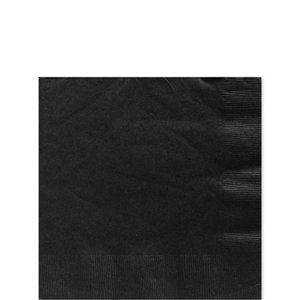 Black Beverage Paper Napkins - 25cm 2ply