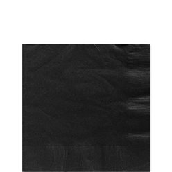 Black Beverage Napkins - 25cm