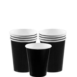 Black Paper Cups - 266ml