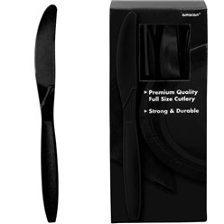 Black Reusable Knives - 100pk