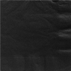 Black Dinner Paper Napkins - 40cm 2ply