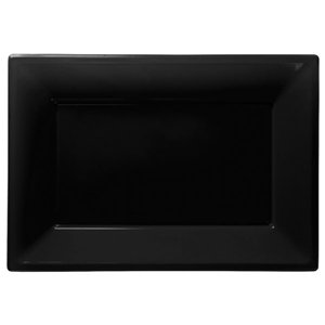 Black Plastic Serving Platters - 23cm x 32cm
