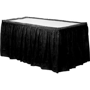 Black Plastic Tableskirt - 73cm x 4.2m