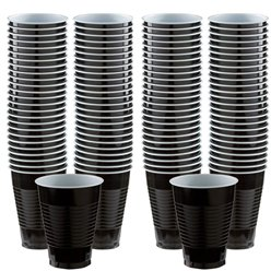 Black Plastic Cups - 473ml