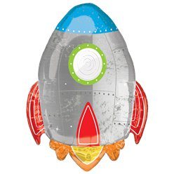 "Blast Off Birthday Supershape Balloon -  29"" Foil"