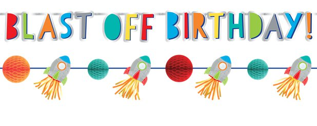 Blast Off Birthday Banner Kit