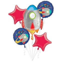 Blast Off Birthday Foil Balloon Bouquets