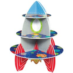 Blast Off Birthday 3 Tier Treat Stand 33cm x 40.1cm